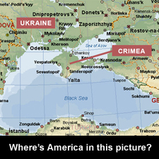 Where's America in this picture?
