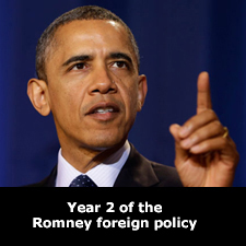 Year 2 of the Romney foreign policy