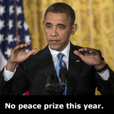No peace prize this year.