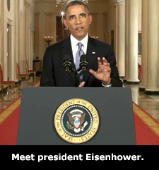 Meet president Eisenhower.