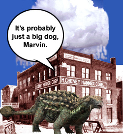 It's probably just a big dog, Marvin