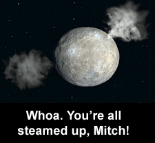 Whoa. You're all steamed up, Mitch!