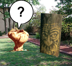 Tubey and the stump in the courtyard.