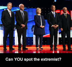 Can YOU spot the extremist?