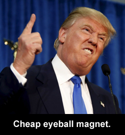 Cheap eyeball magnet