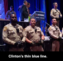 Clinton's thin blue line