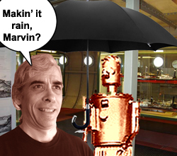 Makin' it rain, Marvin?