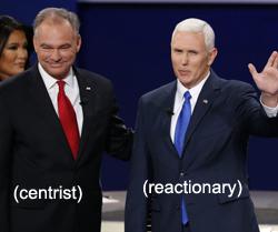 centrist, reactionary