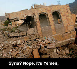Syria? Nope. It's Yemen.
