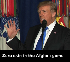 Zero skin in the Afghan game.