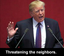Threatening the neighbors