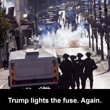 Trump lighst the fuse. Again.