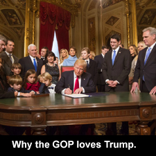 Why the GOP loves Trump.