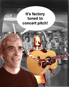 Factory tuned to concert pitch.