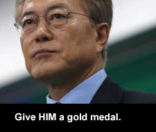 Give HIM a gold medal.