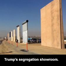 Trump's segregation showroom.