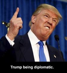 Trump being diplomatic
