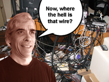 Now, where the hell did I put that wire?