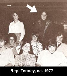 Rep Tenney, ca. 1977