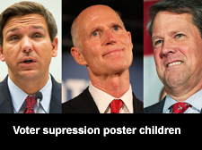 Voter supression poster children