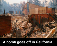 A bomb goes off in California.